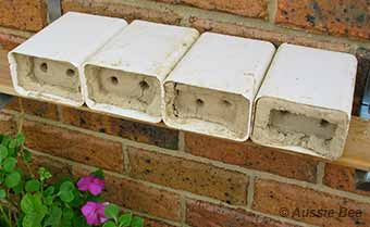 Small blocks for bluebanded bees