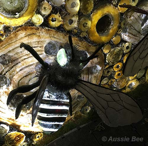 Beetopia, Vivid, Sydney, Bee Hotel for native leafcutter bees